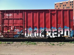 DUAL x REPO (BeautifulVandalism) Tags: minnesota train bench graffiti tag trains dual piece mn freight rollingstock repo wase benching minnesotagraffiti bocxar