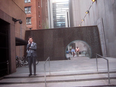Waterfall Glass Tube Tunnel Midtown Manhattan 9959 (Brechtbug) Tags: park street new york city bridge fall water glass wall way waterfall walk manhattan tube bridges tunnel midtown half block through tunnels 7th 6th between avenues 48th 2013