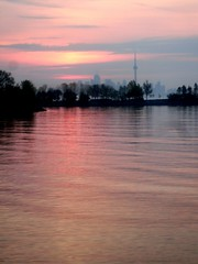 Softness (Georgie_grrl) Tags: morning sky ontario beautiful clouds sunrise soft cntower serene lovely hazy cans2s mydarkpinkside samsungd760 norriscrescentparkette humberbayarea