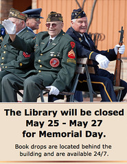Memorial Day Weekend (Lester Public Library) Tags: library librarian librarians memorialday publiclibrary lpl publiclibraries tworivers libslibs librariesandlibrarians 365libs tworiverswisconsin lesterpubliclibrary readdiscoverconnectenrich wisconsinlibraries lesterpubliclibrarytworiverswisconsin
