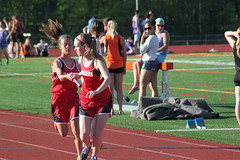HANDOFF (MIKECNY) Tags: girl race track run highschool ponytail runner relay baton teammates teamwork handoff mechanicville