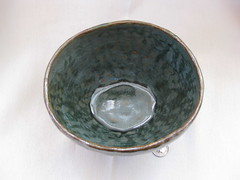 Splash bowl, inside (mikkashar) Tags: ceramic waterdrop crafts bowl clay pottery coilbuilt darkstoneware madebymikkashar