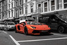 Aventador in London (Shane Hicks) Tags: orange london lambo rx1 aventador