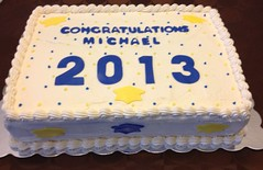 Graduation Cake (PhillyCupKates) Tags: blue yellow cake chocolate graduation vanilla buttercream