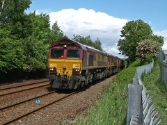 EWS - DB Schenker Class 66 66154 - Mansfield (the mother '66' 66001) Tags: mansfield worksop class66 ews toton 66041 66181 robinhoodline 66074 66154 dbschenker