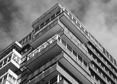 block (Lucid Delirium) Tags: england blackandwhite building architecture canon brighton britain minimal british towerblock 60d
