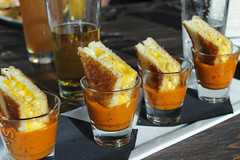 Grilled Cheese Mac & Cheese in Shots of Tomato Soup (sheryip) Tags: food cheese tomato soup mac yum shots delicious grilled morgantown bartini