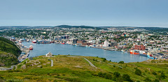Scenic view of St. John's harbour from Signal Hill (ronmackaypei) Tags: nfldtrip signalhill stjohns facebook flickr