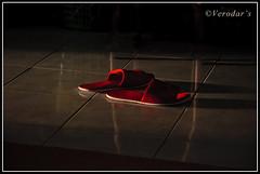 Red Slipper (VERODAR) Tags: light shadow red reflection nikon slippers redslippers indoorslippers nikond5000 verodar veronicasridar