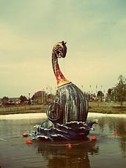 Parque de Europa (ElenaPardo) Tags: madrid color water europa fuente figure landscaoe elenapardo parquedeeuropa