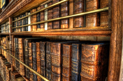 Old Books (HDR) (dkphotographs) Tags: wood old england book library sony books bookshelf shelf alpha bookcase hdr highdynamicrange 57 manorhouse oldbooks woodenshelf slta57 sonyslta57