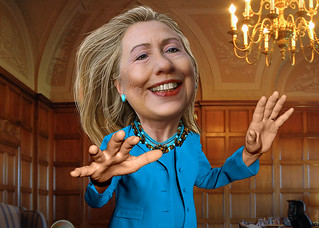 Hillary Clinton - Caricature, From FlickrPhotos