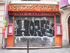 Horf (tofz4u) Tags: streetart paris graffiti tag artderue 75005 horfe restaurantindien horphe bollywoodlounge