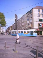 Crossing Tram Tracks - Gothenburg, Sweden (Marionzetta) Tags: gteborg publictransportation sweden trolley gothenburg tram tramway sude svezia transportsencommun gothenburgtram trasportipubblici gothenburgtrolley gothenburgtramay gteborgtram gteborgtramway