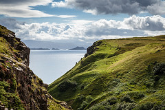 Somewhere south of Staffin (tribalandre) Tags: blue sky skye green grass clouds coast scotland isle staffin of