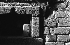 brick wall (manni39) Tags: brick film me wall pentax brickwall jupiter agfa apx agfaapx100 jupiter9 pentaxme r09  selfdevelopped jupiter985mm20 pentax50mm20
