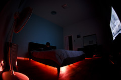 Whats Under The Bed!!!!! (djericray) Tags: longexposure scary downtown nightlights underthebed dx 210 sanantoniotexas 105mm lightpaint nikkor105mmf28fisheye nikond7000
