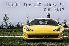 Another giallo modena, but this time for the 100th like on my page ! (Quentin.D   Photography) Tags: auto france cars car canon de eos photo italia photographer grand ferrari voiture prix giallo f vehicle modena expensive circuit supercar coches cotxes supercars historique dreamcar 458 magnycours 600d 2013 vhicules hypercar nervers worldcars hypercars rareless