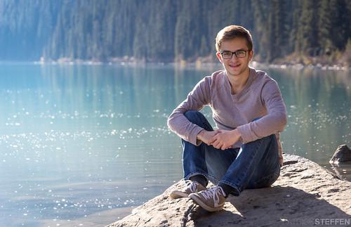 Sonne genießen am Lake Louise