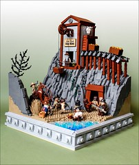 Lake Worth Gold Mine (Fianat) Tags: old wild lake west gold mine lego western worth moc afol