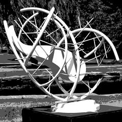 Denis Folz: COCOON l (Bill in STL) Tags: sculpture art modern ma modernart massachusetts publicart worcester cocoon artinthepark folz denisfolz cocooni