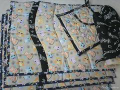 kit 'coruja ouvindo msica' (Carla Cordeiro) Tags: pb placemat owl coruja patchwork potholder curva luva  jogoamericano acolchoado pegadordepanela