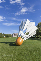 nelson-atkins shuttlecocks on the lawn west (ipicture365) Tags: green vertical museum day lawn sunny mo kansascity missouri kc nelsonatkins shuttlecock