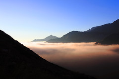 Morgenröte_net (peter pirker) Tags: morning blue red sky sun rot fog canon landscape himmel blau landschaft morgen jebel sonnen hochalmspitze peterfoto eos550d peterpirker