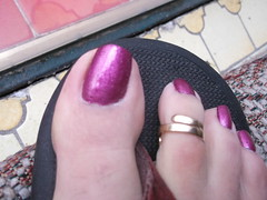 DSCF2389 (sandalman444) Tags: color male feet long sandals nail pedicure care toenails pedicured toerings mensfeet