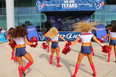 IMG_8915 (grooverman) Tags: plaza game sexy canon eos rebel football nice texas cheerleaders legs boots stadium nfl houston t3 dslr budweiser texans pregame reliant 2013