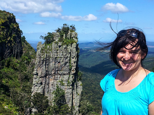 Danielle and The Pinnacle Rock, Graskop, South Africa