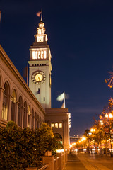 Ferry Building (SharmaPunit) Tags: sanfrancisco california city longexposure nightphotography travel sky usa building tree beautiful beauty night america photography lights evening photo nikon flickr nightimages cityscape photograph