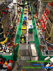 Busy Downtown (Kooberz) Tags: city building lego pirates bricks mining gaming pirate legos animation minifig monorail build epic brickfilm stopmotion minifigure brickart kooberz bricktube kooberzstudios youtubecomkooberz