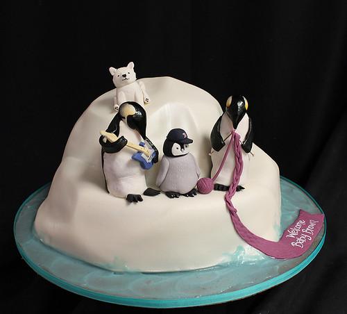 Penguin Iceberg cake