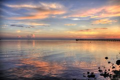 Bayshore Reflections (flutterbye216) Tags: sunset sky water clouds canon eos rainbow florida explored 60d canoneos60d blinkagain flutterbye216 challengeclubchampion
