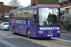 Bennetts Scania K113CRB A18BNT - Stafford (dwb transport photos) Tags: coach scania stafford vanhool alizee bennetts a18bnt