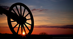 Sunset Wagon Wheel