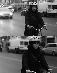 [La Mia Citt][Pedala] (Urca) Tags: portrait blackandwhite bw italia milano bn ciclista biancoenero bicicletta pedalare 2013 dittico 60341 ritrattostradale nikondigitalefilippetta
