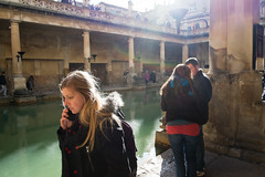 Roman Baths #3 (James_2nd) Tags: uk bath fuji roman tourists baths 18mm xpro1