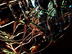 Three Birds (killbyte) Tags: glasses hanging wineglasses clearglass img2196 overthebar threebirdstavern