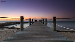 Towards Horizon. (dasanes77) Tags: wood longexposure sea sky beach landscape dawn pier caribbean beforesunrise magiclight canonef24105mmf4lisusm trolled anawesomeshot canoneos6d