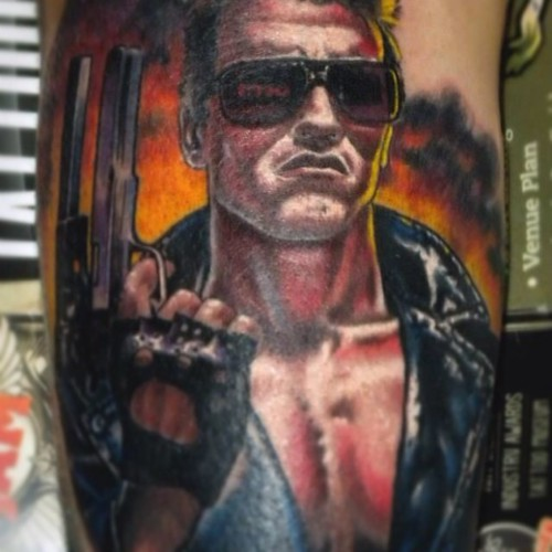 #Tattoo #tatuaggio #Miami #tatuatore #tattooartist #EttoreBechis #Absolution #Salvation #Lounge #ink #Inked #Cantu' #colore #Blackandgray #Magazine #Musink #realistic #realistico #cartoon #terminator #arnold #schwarzenegger