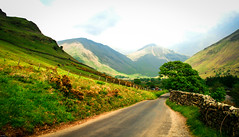 Drive (Dekonstructed) Tags: road uk trees england sky plants lake mountains green grass clouds fence rocks unitedkingdom exploring lakedistrict tourist hike hills