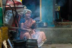 Woman (Raja V) Tags: food cook faceofindia beautiful india candit photowalk chennai thiruvanmiyur eat stove street woman
