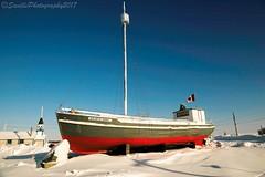 AUR_6340s (savillent) Tags: our lady lourdes ship boat roman catholic monument tuktoyaktuk northwest territories northern canada arctic march 2017