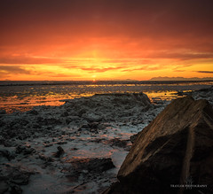Better than television (Traylor Photography) Tags: fineart landscape sunset travelphotography nature iceflow south mtredoubt volcano explore rocks paint adventure mchughcreek winter alaska clouds reflection colors tide sewardhighway tourism panoarama anchorage unitedstates us
