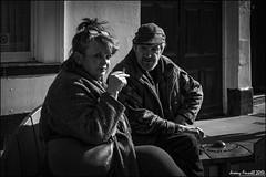 Outside the pub (zolaczakl) Tags: blackandwhite gloucester gloucestershire people streetscenes candid mono monochrome photographybyjeremyfennell fujix100s march 2017 uk england southgatestreet