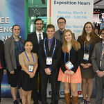 A group of students posing with Dr. Boylan at a conference.