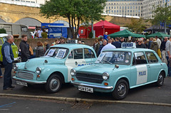 1970 Morris 1000 & 1973 Austin 1100 Police Cars (Malc Edwards) Tags: london malc classiccarbootsale car vehicle southbank se1 october2013 morris 1000 1970 austin 1973 policecar
