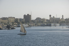 Asuan / Aswan (Vjekoslav1) Tags: nile nil aswan asuan egypt egipat africa afrika voda water church crkva copts kopti christians kršćani felucca feluka brod ship